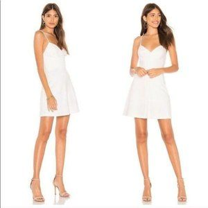 "NWOT Amanda Uprichard White ""Toni"" Mini Dress L"